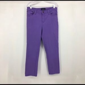 LRL Jeans Ralph Lauren Purple Crop Jeans 12